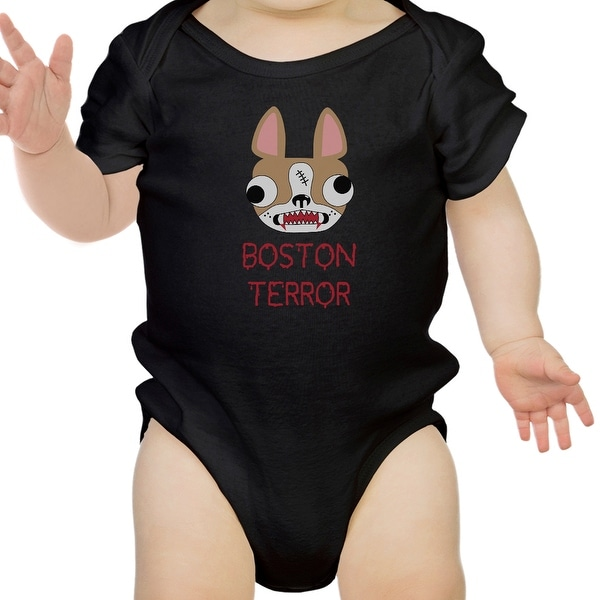 Boston Terror Terrier Funny Halloween Baby Bodysuit Cotton Baby Gifts