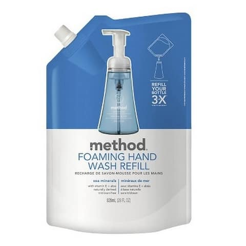 Method 00667 Foaming Hand Wash Refill, Sea Minerals, 28 oz.