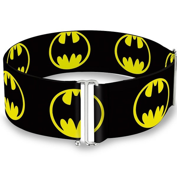 Bat Signal 4 Black Yellow One Size Cinch Waist Belt ONE SIZE