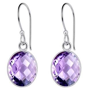 Link to Amethyst Sterling Silver Oval Dangle Earrings by Orchid Jewelry Similar Items in Earrings