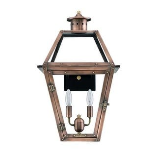 "Primo Lanterns OL-18E Orleans 15"" Wide 2 Light Outdoor Wall-Mounted Lantern in Electric Configuration
