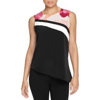 Calvin Klein Womens Blouse Printed Sleeveless