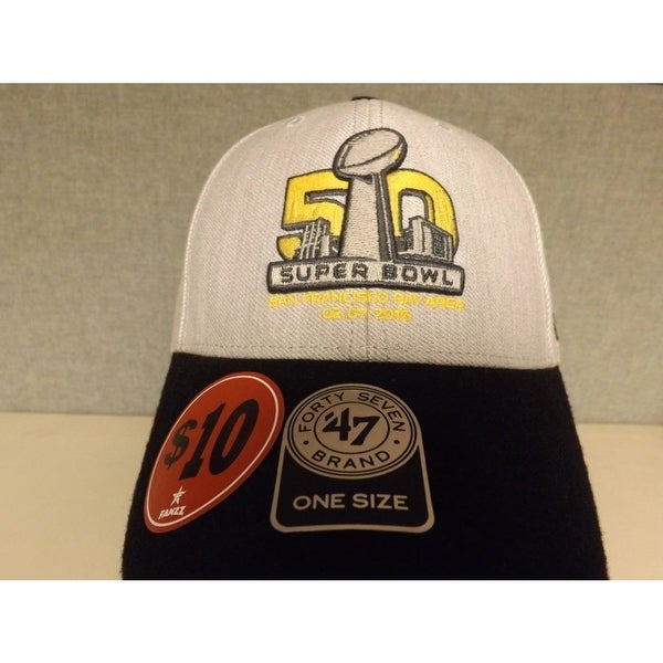 e2d699a3def12 Shop SUPER BOWL 50 Broncos vs Panthers Mens 47  Brand OSFA Cap Hat  24 - On  Sale - Free Shipping On Orders Over  45 - Overstock - 23079394