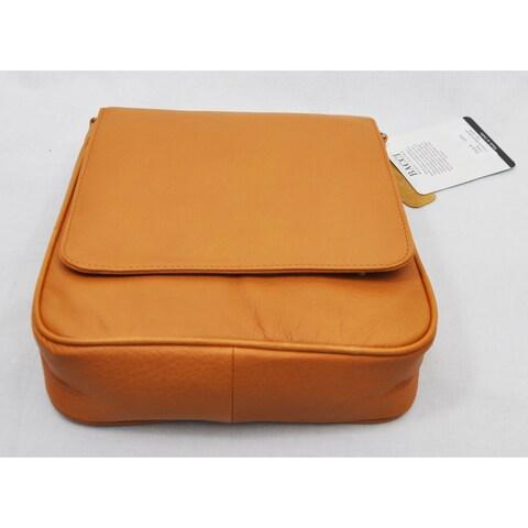 Bacci Tan Medium Front Flap Cross Body Bag With Strap