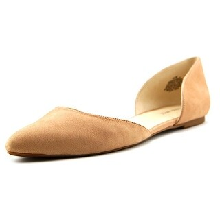 Nine West Womens Starship Leather Pointed Toe Ballet Flats