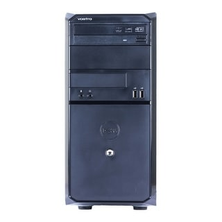 Dell Vostro 230 Computer Tower Intel Core 2 Duo E7500 2.93G 4GB DDR2 160G Windows 10 Home 1 Year Warranty (Refurbished) - Black