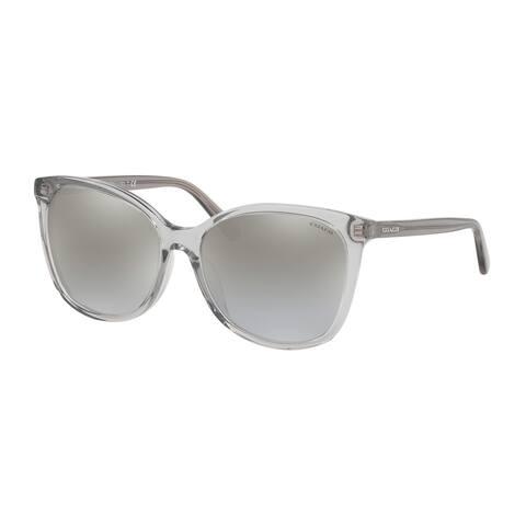 Coach HC8271U 51766V 57 Transparent Grey Woman Square Sunglasses