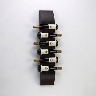 "Cyan Design 2797 36"" Wall Wine Storage - Mahogany"