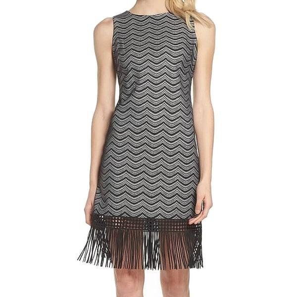 d921cc61b61 Shop Julia Jordan Women's Ullusion Fringe Sheath Dress - Free ...