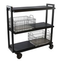 Atlantic 23350329 3 Tier Cart System Wide, Black