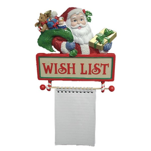 "Santa's ""Wish List"" Notepad Wall Christmas Decoration"