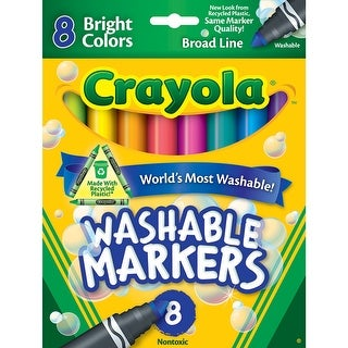 Crayola Washable 8Ct Bright Colors