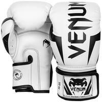 Venum Elite Hook and Loop Training Boxing Gloves - White/Black