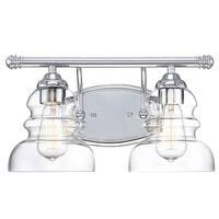 "Millennium Lighting 7332 Brighton 2-Light 15"" Wide Bathroom Vanity Light with Glass Shades"