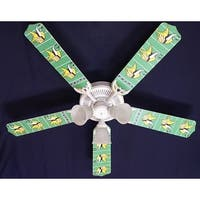 Vikings Print Blades 52in Ceiling Fan Light Kit - Multi