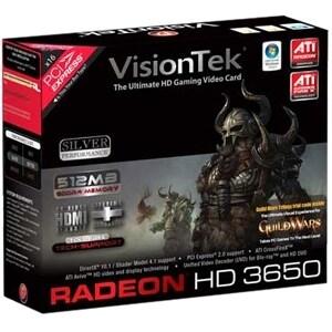 """VisionTek 900232 Visiontek Radeon HD 3650 Graphics Card - ATi Radeon HD 3650 - 512MB GDDR2 SDRAM 128bit - PCI Express 2.0 x16 -"