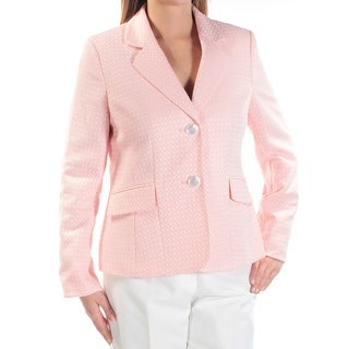 Womens Pink Wear To Work Straight leg Pant Suit Size 14
