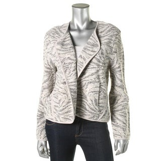 Nic + Zoe Womens Textured Metallic Blazer