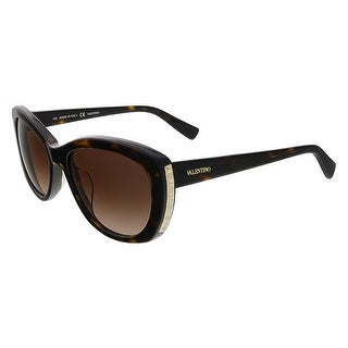 Valentino V649S 215 Dark Havana Cat Eye Valentino Sunglasses