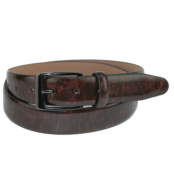 Dockers Men's Leather Feather Edge 1 1/4 Inch Dress Belt
