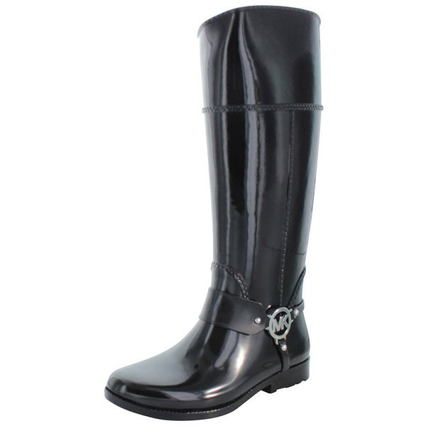 MICHAEL Michael Kors Womens FULTON HARNESS Closed Toe Knee High Rainboots