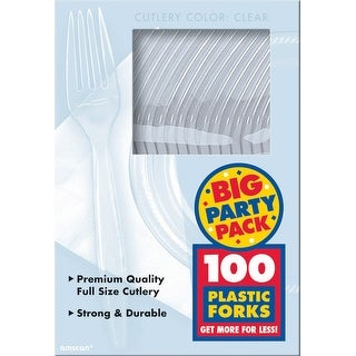 Plastic Forks 100/Pkg-Clear - Clear