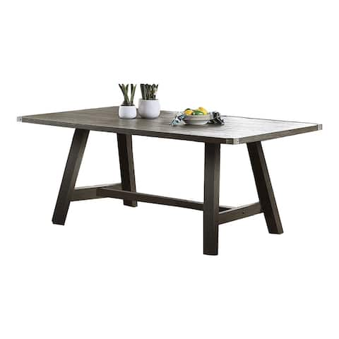 Rubber Wood Dining Table in Dark Grey