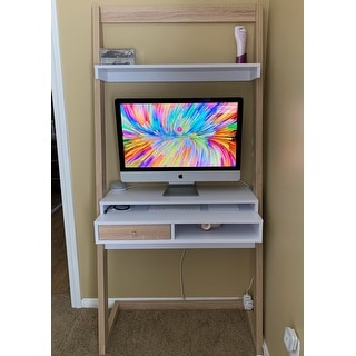 Furniture of America Tali Contemporary 2-tone Leaning Writing Desk