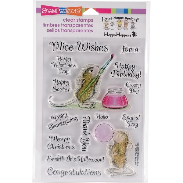"Stampendous Perfectly Clear Stamps 4""X6""-Painted Wishes"