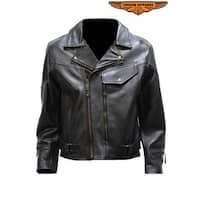 Mens Pistol Pete Motorcycle Jacket With Airvent - Size - 42