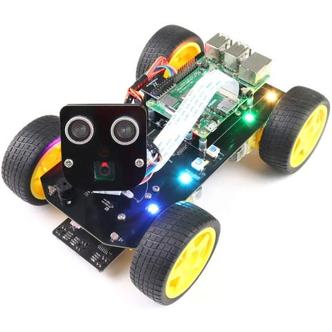 4WD Smart Car Kit FaceTracking,LineTracking,Light Tracing,Obstacle Avoidance,Colorful Light, Ultrasonic Camera Servo Wireless RC
