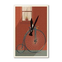 Bicycle - Letterpress - LP Artwork (Acrylic Wall Clock) - acrylic wall clock