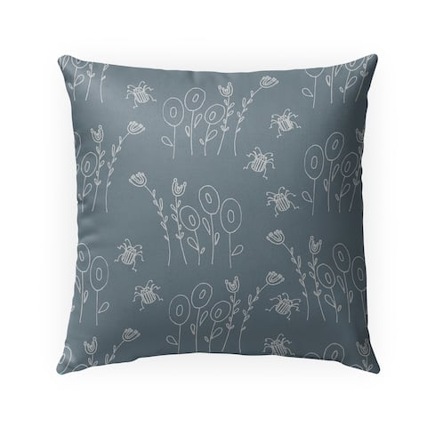 BUG BLUE Indoor-Outdoor Pillow By Anne Cote