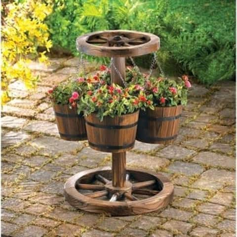 Four Bucket Hanging Planters