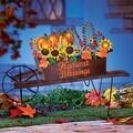 Thumbnail 1, Autumn Harvest Wheelbarrow Yard Stake.