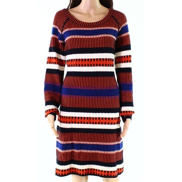 612b830c4cb Shop Tory Burch Black Womens Size Large L Ribbed Striped Sweater ...