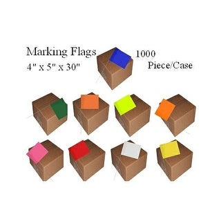 Marking Flags 4 inch x 5 inch with 30 inch Wire Staff 1000 Piece Case