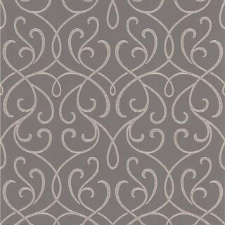 Brewster DL30447 Alouette Grey Mod Swirl Wallpaper