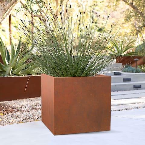 Fency Series Weathered Corten Steel Planter Box