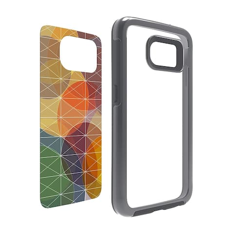 OtterBox My Symmetry Series Protective Case - Grey Crystal with Fall Grid Graphic Insert for Samsung Galaxy S6 (ONLY)
