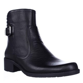 AK Anne Klein Sport Lanette Short Motorcycle Boots - Black