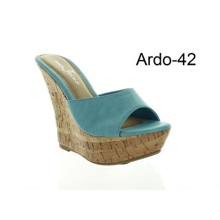 Link to Fashion Focus Womens Ardo-42 Popular Wedge Sandal Similar Items in Women's Shoes