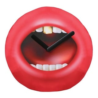 Novelty Wall Clock - Inflatable Open Mouth Red Lips