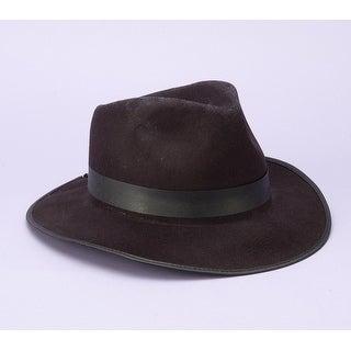 Gangster Black Fedora Adult Costume Hat One Size