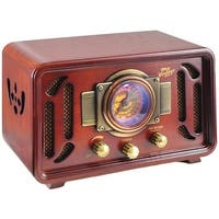 Home  Retro-Style Bluetooth Speaker System, Red