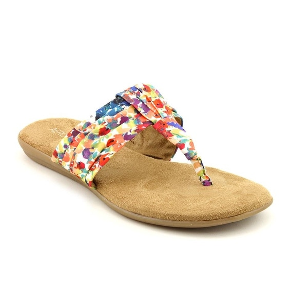 Aerosoles Chlairvoyant Women  Open Toe Canvas Multi Color Thong Sandal