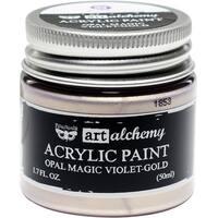 Finnabair Art Alchemy Acrylic Paint 1.7 Fluid Ounces-Opal Magic Violet/Gold