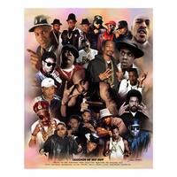 ''Legends of Hip Hop'' by Wishum Gregory African American Art Print (11 x 8.5 in.)