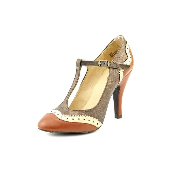 Dolce by Mojo Moxy Harlow Women Round Toe Synthetic Brown Heels
