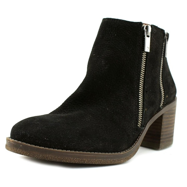 Lucky Brand Roquee Women Moc Toe Leather Black Boot